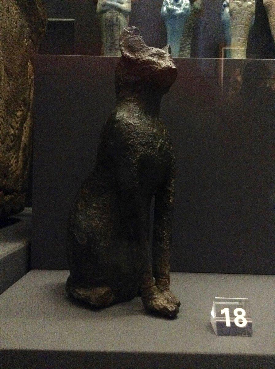 Bronze figure of Bastet, the Egyptian lion goddess, at @McManusDundee #MewseumMonday