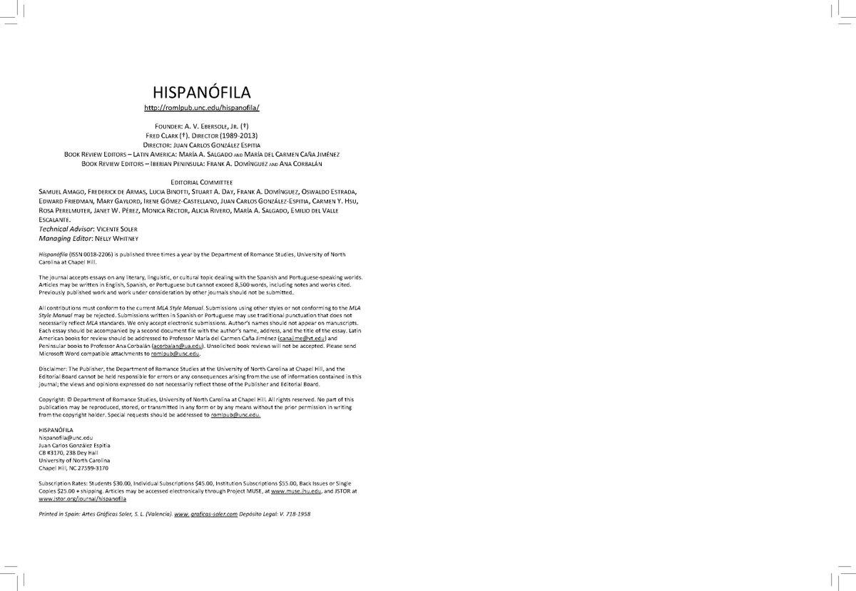 Slu Madrid On Twitter The Journal Hispanofila Published A Dossier