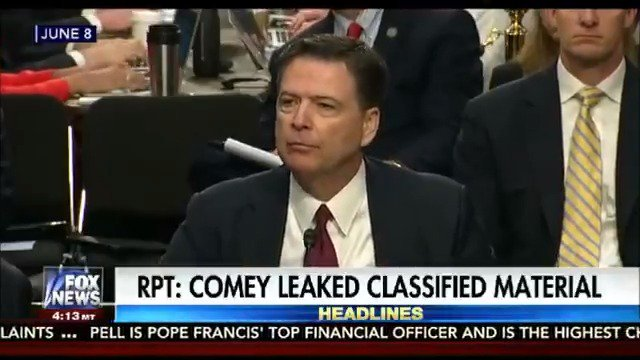 Report accuses material James Comey leaked to a friend contained top secret information