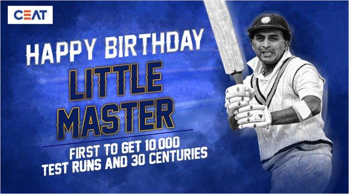 Here\s wishing the legendary batsman, Sunil Gavaskar a very happy birthday!