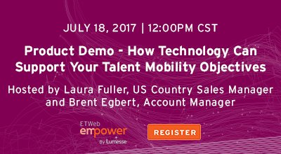 #ProductDemo. How Technology Can Support Your Talent Mobility Objectives. #EmpowerTalent #HRTech #TalentManagement  http:// ow.ly/A9hX30dttoQ  &nbsp;  <br>http://pic.twitter.com/Q9z9EzJ0d6