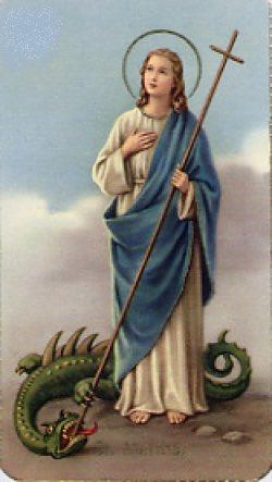 ぼく「FGOのマルタさん大好きだけど、あそこまでファイターな姿は流石に脚色がすごいんやろなあ」 実際の肖像画「龍に杖、グサーッ!!!」 ぼく「草」