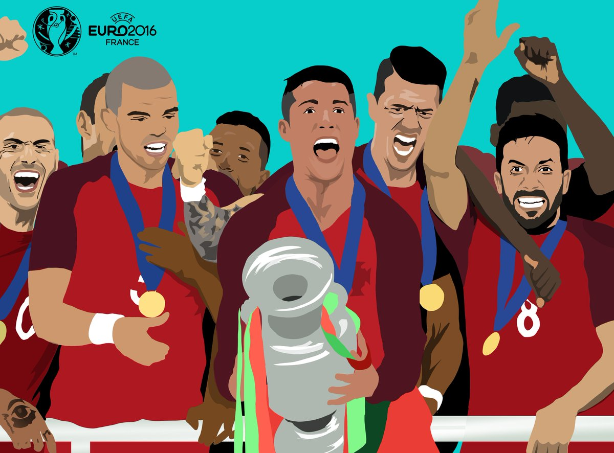 Portugal were crowned champions of Europe #OnThisDay in 2016 🇵🇹🏆
