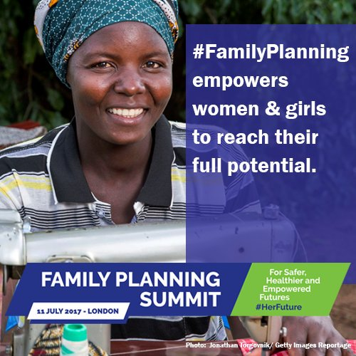 Every woman should be able to plan #HerFuture. #SheDecides #FP2020 https://t.co/MyjakrjF9X