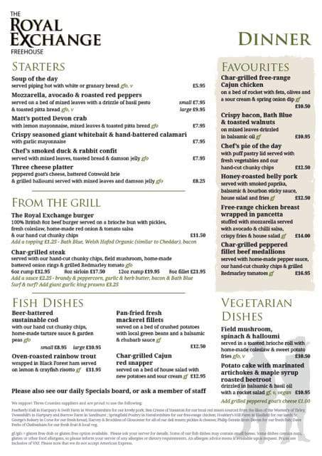 Our new summer menu is up and running #bestofbritish #lovethelocal #theroyal👑