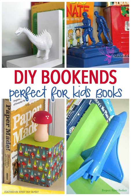 11 DIY Bookends Perfect for Kids Books
