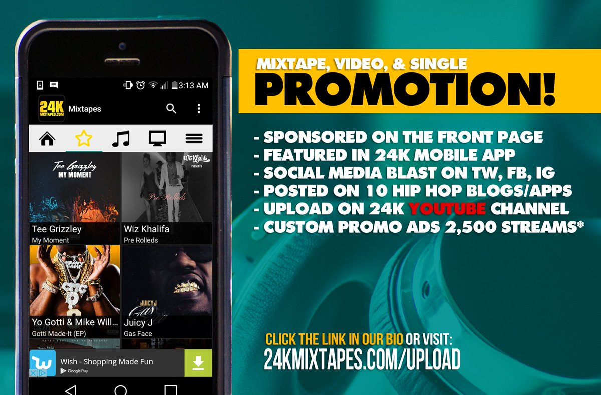 24k mixtapes on twitter get top notch music promotion with