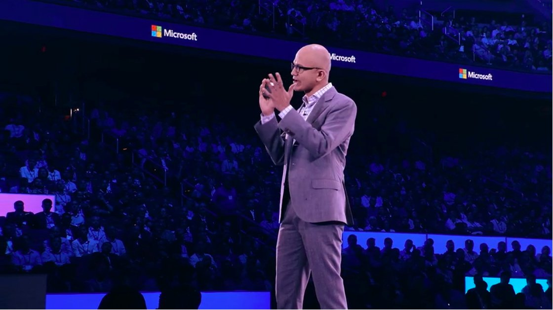 Microsoft CEO @satyanadella kicks off #MSInspire by thanking the massive partner ecosystem. #FutureOfWork @MicrosoftARC @msPartner https://t.co/tW3oemGEOw