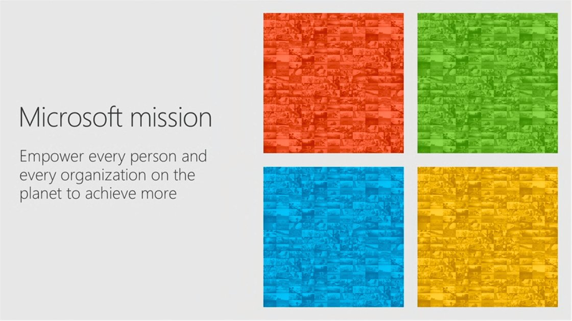 "The Microsoft mission: ""Empower every person and every organization on the planet to achieve more."" - @satyanadella #MSInspire https://t.co/Rq8AEEOSSh"