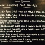 Today's Club Specials.... #barnsleyisbrill