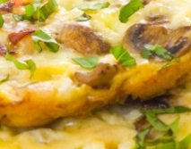 Mushrooom, Pepper and Onion Omelet