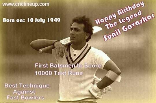 Wishes The Legend  Sunil Gavaskar  A Very Very Happy Birthday