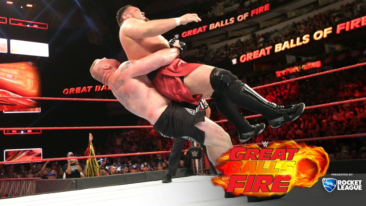 wwe great balls of fire 2017 results - DEYQDj XoAAanTu - WWE Great Balls Of Fire 2017 Results: Brock Lesnar defend Samoa Joe, Braun Strowman Won Ambulance Match