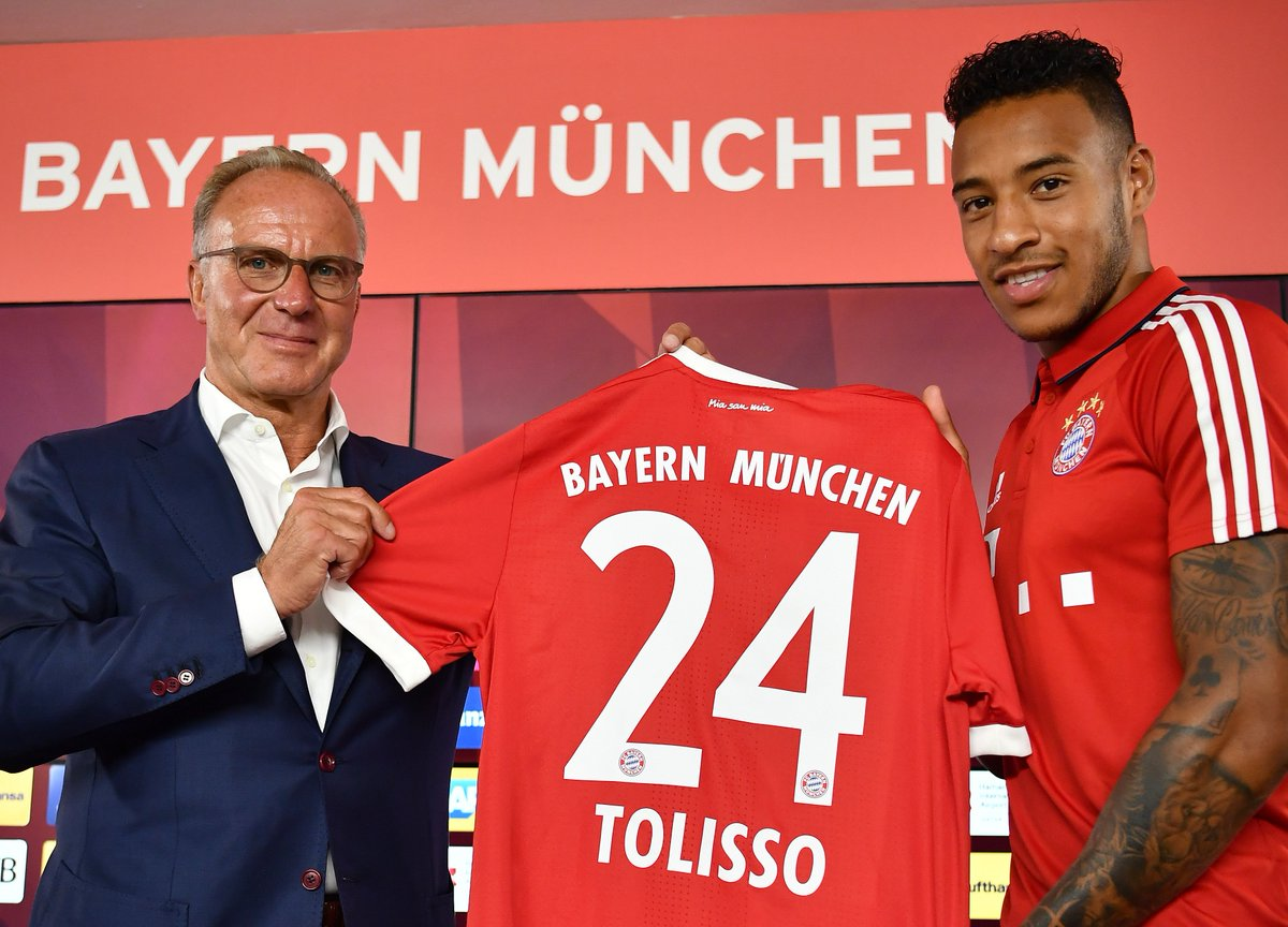 """UEFA Champions League on Twitter: """"Bayern present summer signing Corentin Tolisso... Where does he slot in? #UCL… """""""