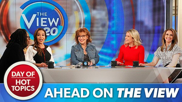 THIS MORNING ON @THEVIEW: The co-hosts are back at the table LIVE for a day of #HotTopics