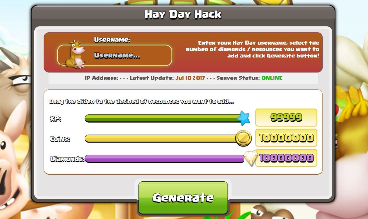 Hay Day Hack on Twitter:
