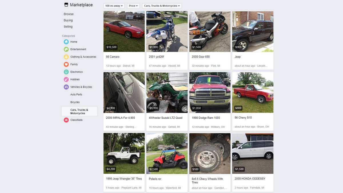 is facebook marketplace the answer to buying and selling cars? bit