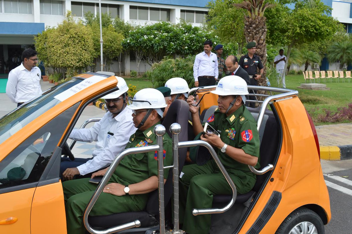 Myanmar Defence Forces Chief visits Amul plant, Nano Factory and GERMI
