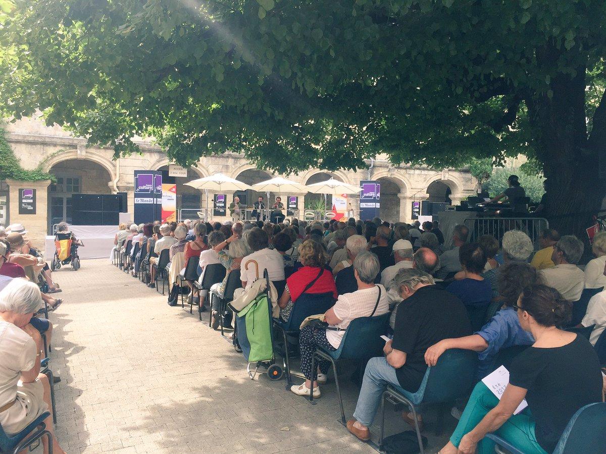 #Montpellier les 31èmes rencontres de Pétrarque en direct sur @franceculture du 10 au 14/07, 17h-18h30 au cour soulages de l'@acmontpellierpic.twitter.com/.