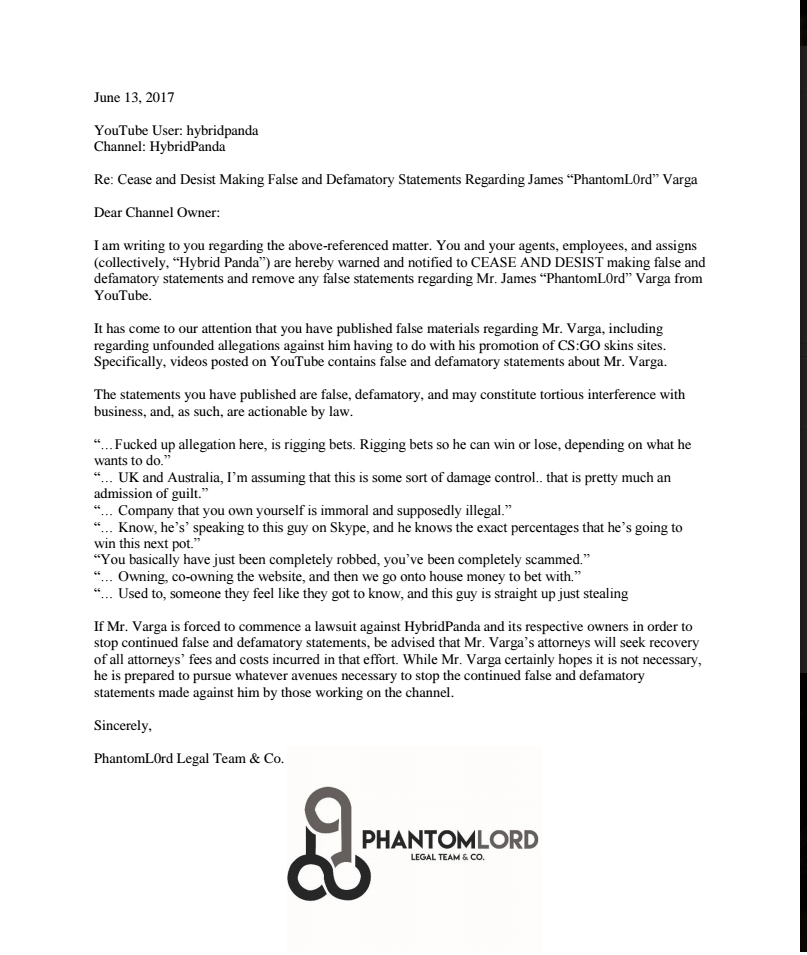 Hybridpanda on twitter got a cease and desist letter from 830 am 10 jul 2017 thecheapjerseys Image collections