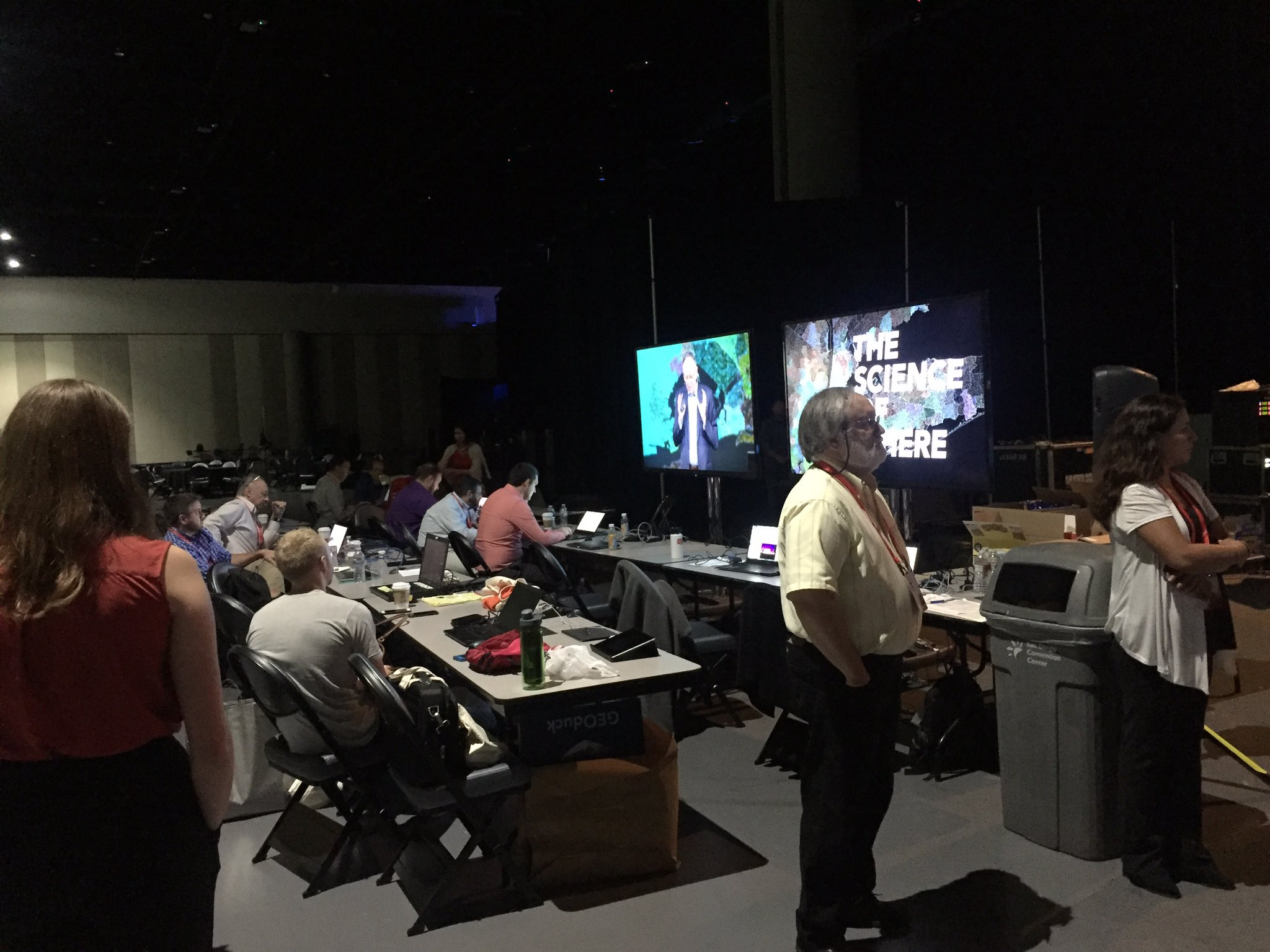 A view from backstage at #EsriUC! Enjoy the week! #GIS https://t.co/objxJlVo3u