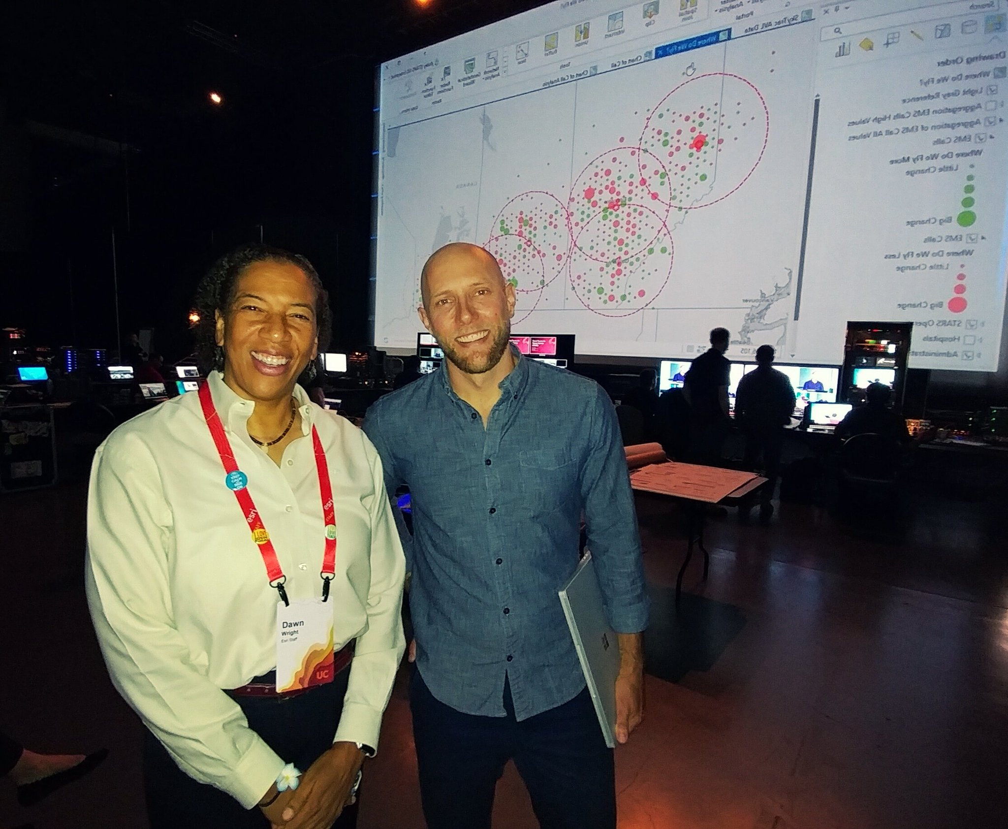 Chief Scientists united for a sustainable future @deepseadawn & @lucasjoppa #ESRIUC2017 https://t.co/NHW6b2voTy