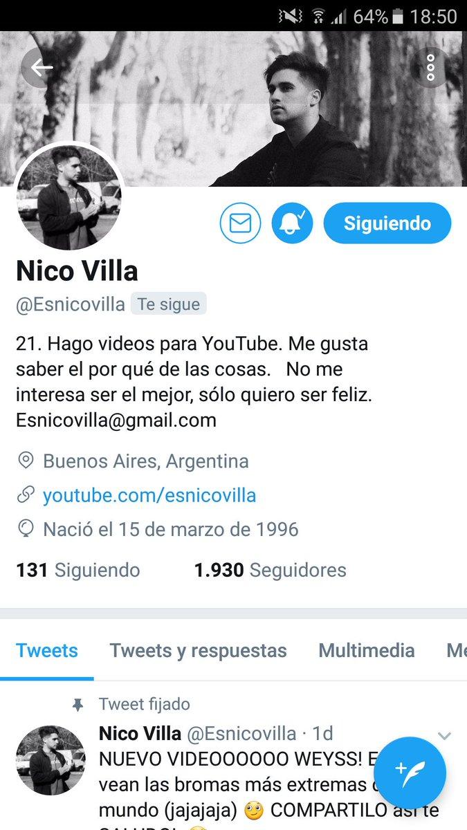 Nico Ya esta por llegar a los 2.000 seguidores en Twitter, Taria para un Preguntas de Twitter 2😏❤💪 @Esnicovilla @TeamNicoVilla