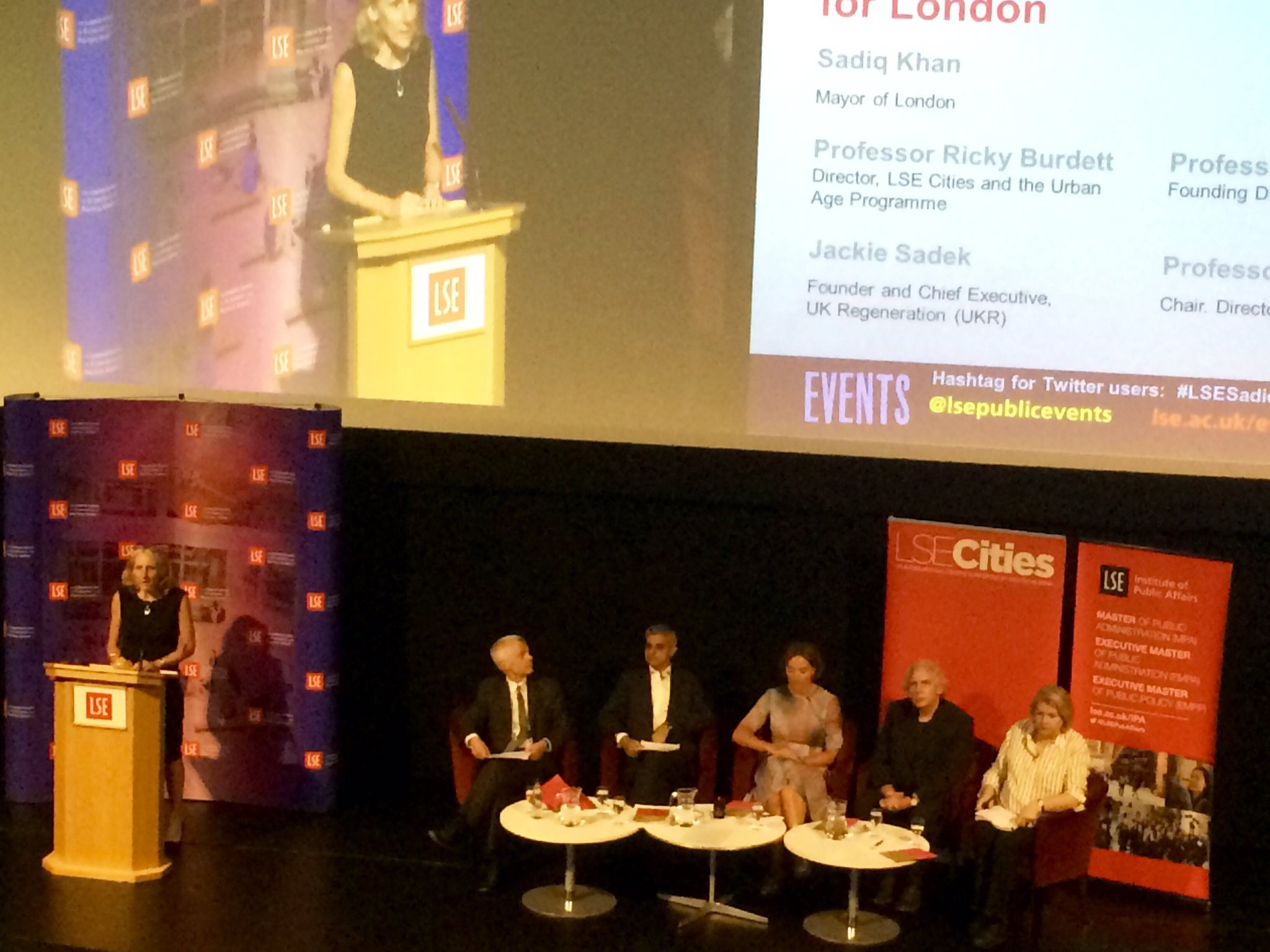 Good Growth by Design - A Vision for London public lecture with London Mayor, @SadiqKhan #LSESadiq https://t.co/m5dH1piuE4