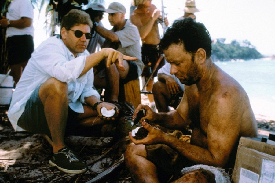 """CinemaDrugs on Twitter: """"Robert Zemeckis with Tom Hanks while ..."""