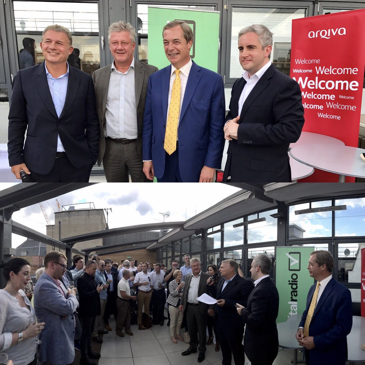 With @JamesRea, @global and @arqiva speaking about the exciting future of #DigitalRadio earlier. https://t.co/b6jKt5moKt