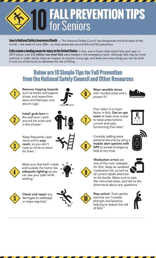 Adult older safety tip