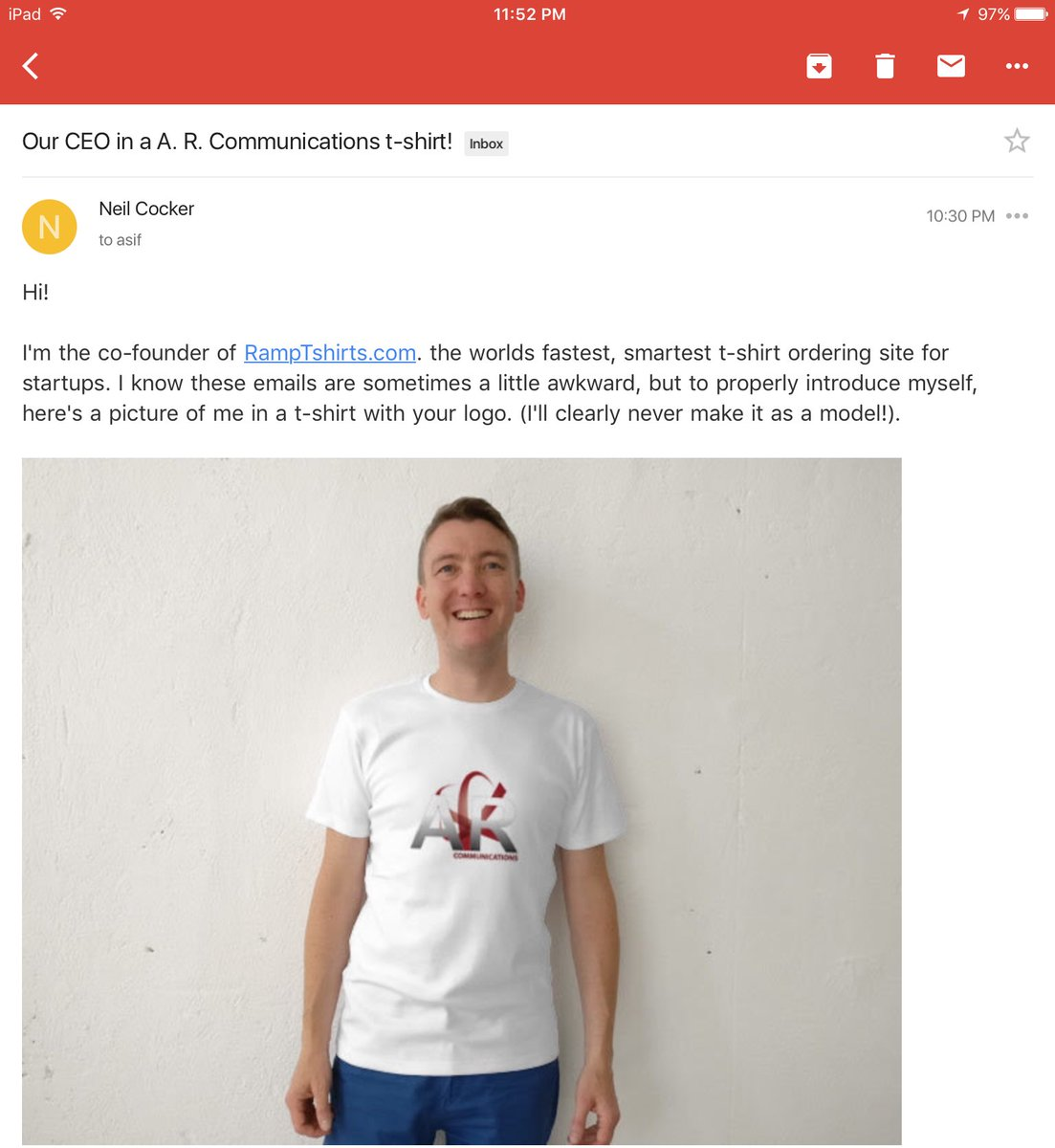 test Twitter Media - Email marketing to a whole new level by @RampTshirts! CC: @NeilCocker @ARComCo #Email #EmailMarketing #Startup #Marketing #Hustle #TShirt https://t.co/4FLck0Fj7u