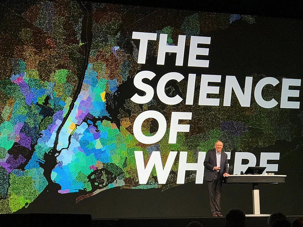 Jack Dangermond speaking about The Science of Where at Esri UC 20