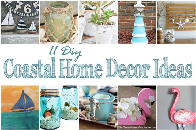 11 DIY Coastal Home Décor Ideas + Merry Monday Link Party 162