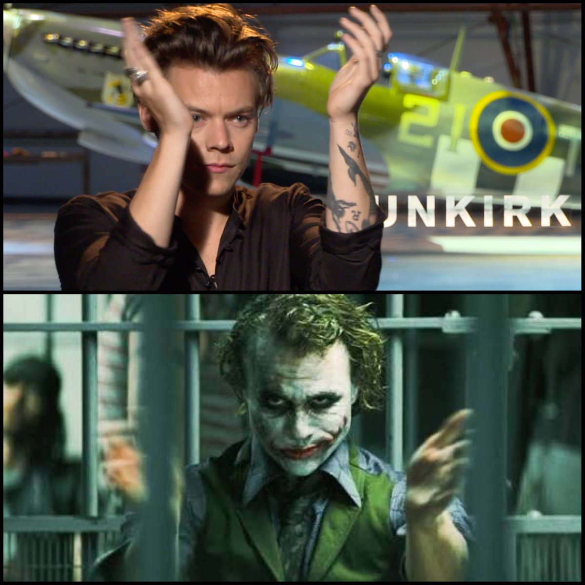 Christopher Nolan compared casting @Harry_Styles in @dunkirkmovie with casting Heath Ledger in #TheDarkKnight. 'You can see the potential.'