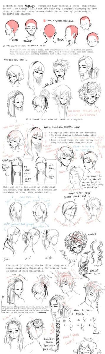 How to draw hair tutorial #drawing #drawinghair #sketchbook<br>http://pic.twitter.com/jP5LrfA8FK