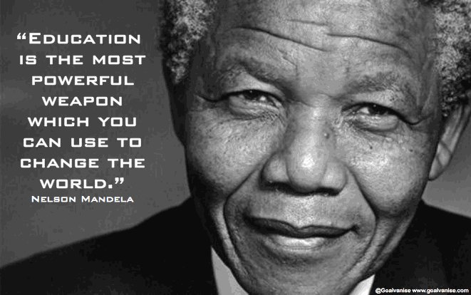 Great quote from a even greater person. We strive to live for his ideals! #MandelaDay #Knowledge4All #LearningMadeEasy<br>http://pic.twitter.com/wLfjjMfF3d