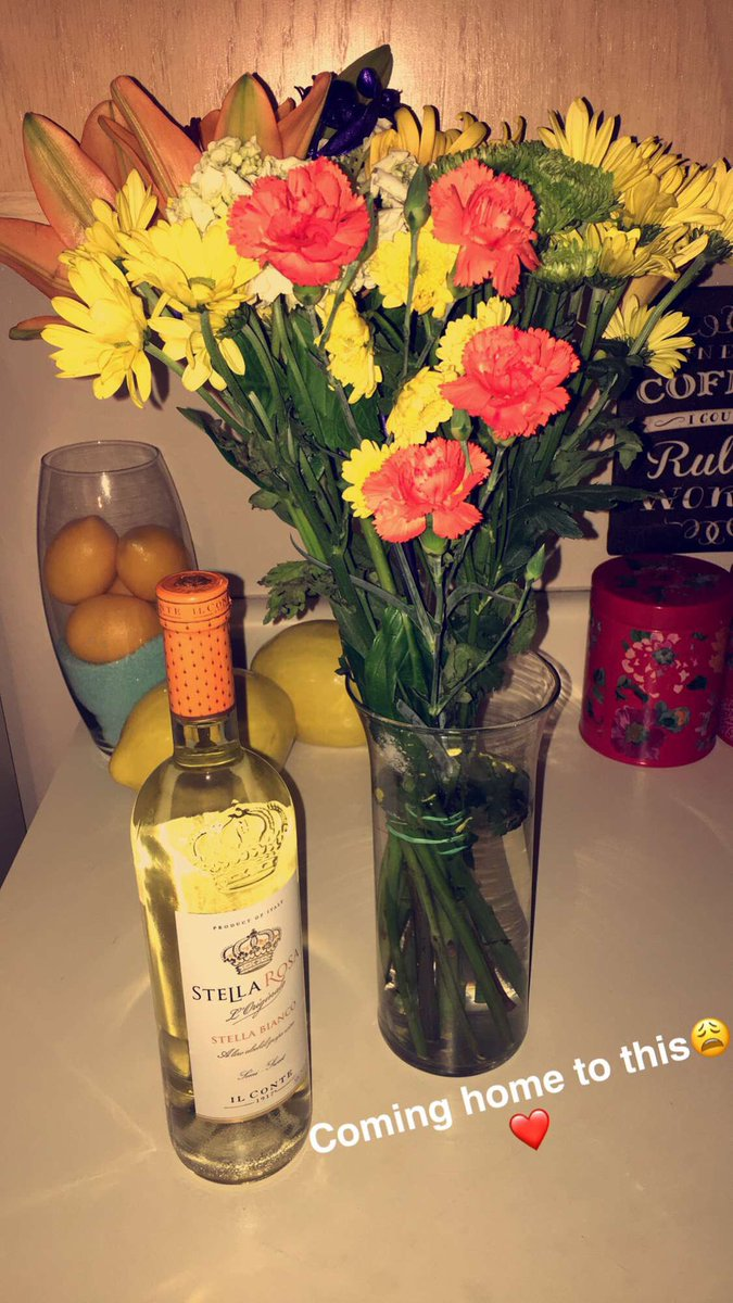 Bailey On Twitter Came Home To A Bottle Of Wine And Flowers