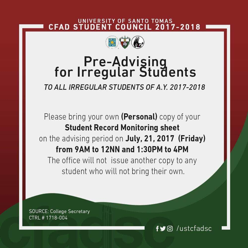 irregular student