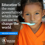 """Education is the most powerful weapon which you can use to change the 🌍."" #NelsonMandela #MandelaDay"