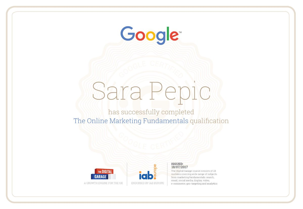 :-) ! A great training #Course from @Google - #DigitalMarketing #LearnWithGoogle #GoogleAdWords <br>http://pic.twitter.com/rtEjhRHTCZ