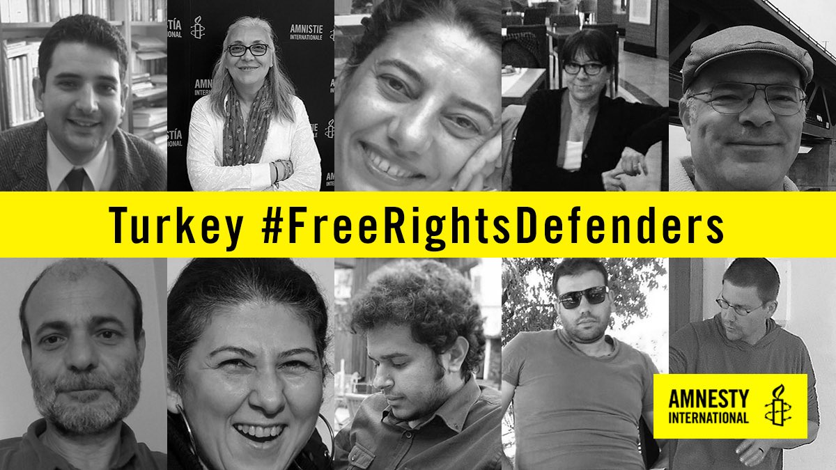 Jailing of activists, including @amnesty director, a crushing blow for rights in #Turkey #FreeRightsDefenders https://t.co/RxdP7c6Aqx https://t.co/5V2WvwNkCG