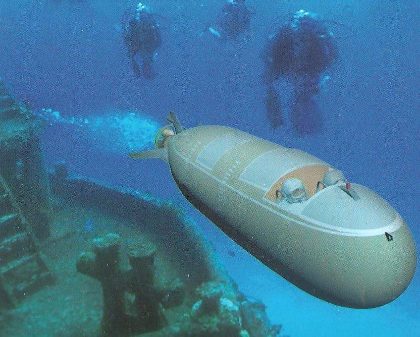 Remarkable, midget russian submarine triton
