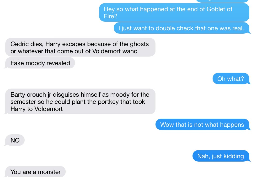 Man accidentally reads Harry Potter fanfic instead of real one