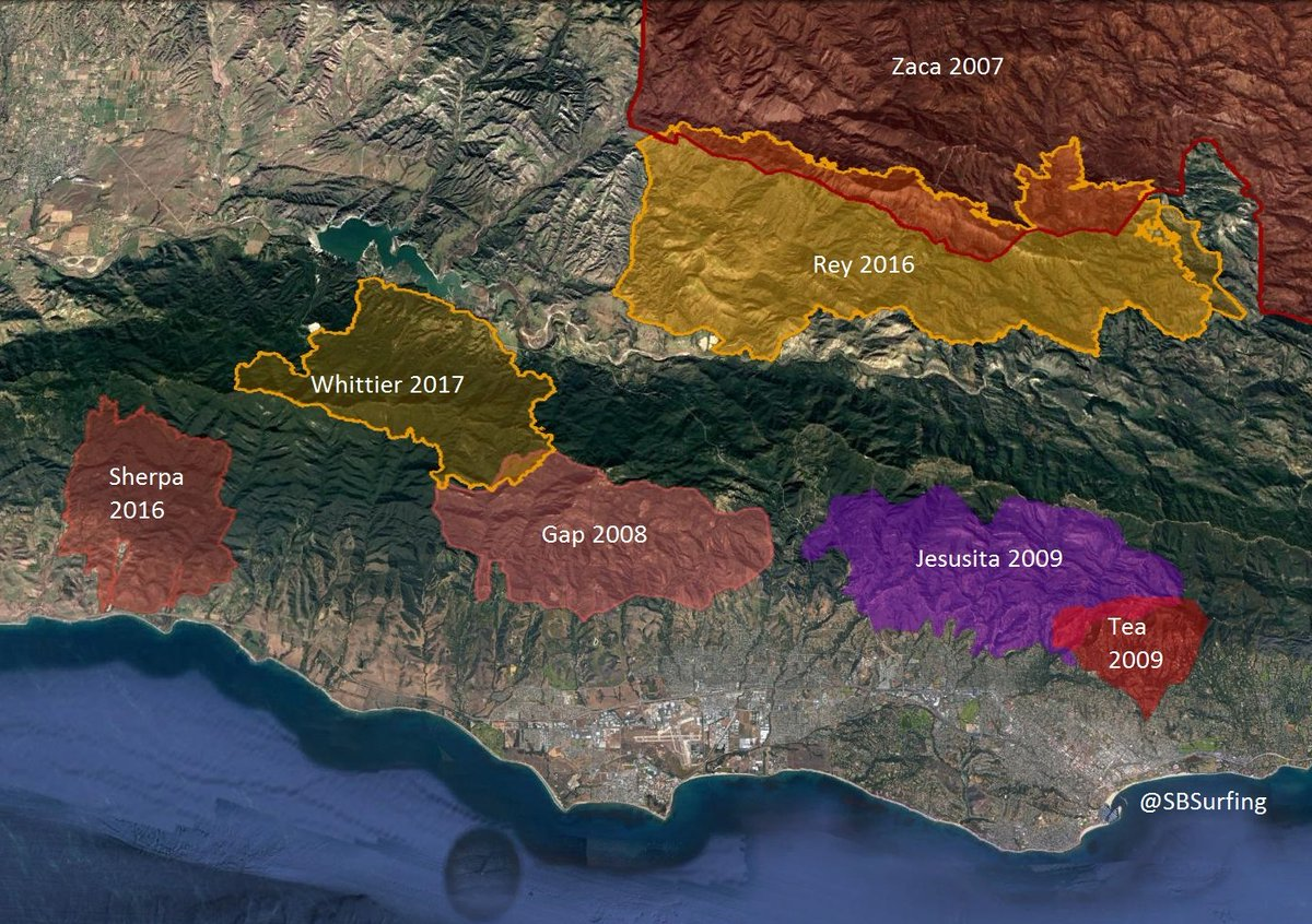 Santa Barbara Fire Map 2017 KEYT NewsChannel 3 on Twitter: