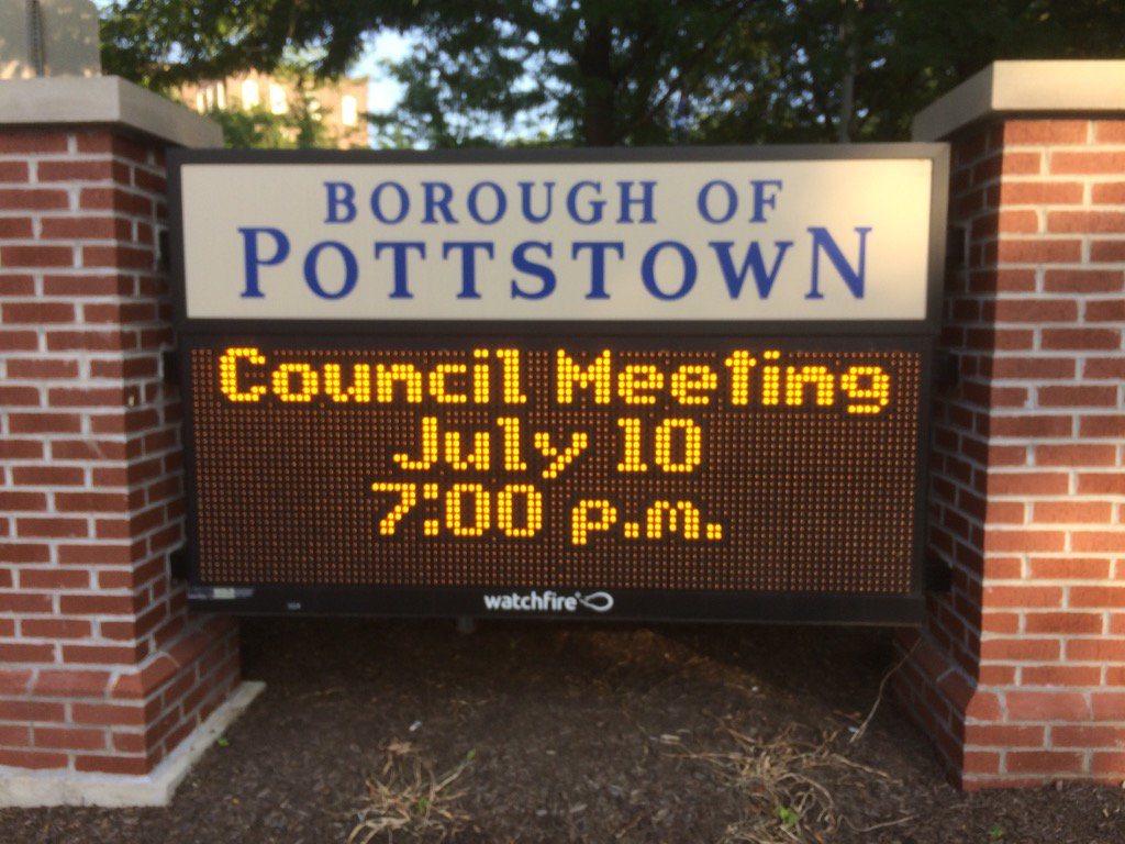 Just when you thought this summer couldn't get any better, it's @pottstownboro council meeting time. https://t.co/FeLPwhJv3t