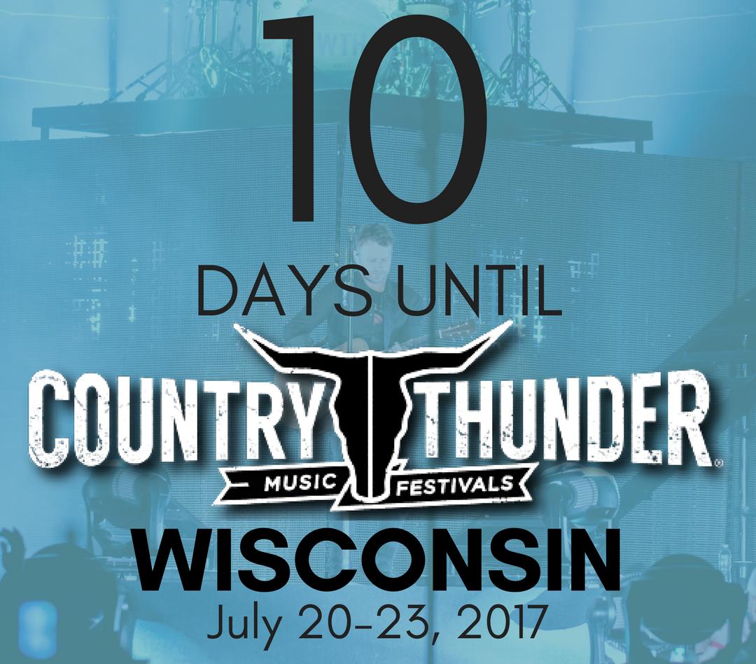 10 DAYS WISCONSIN!!!