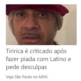 Imagina explicar noticias do Brasil pra um gringo Então tem um politico, q é palhaço E tem um cantor q tem um macaco Ai o macaco fugiu e..