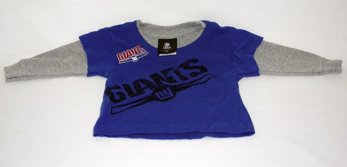 76fdf0a2d #NYGiants #Football Long Sleeved Shirt for Boys (12 Month Toddlers) -  #Babyshirts - http://www.ebay.com/itm/182244908064?