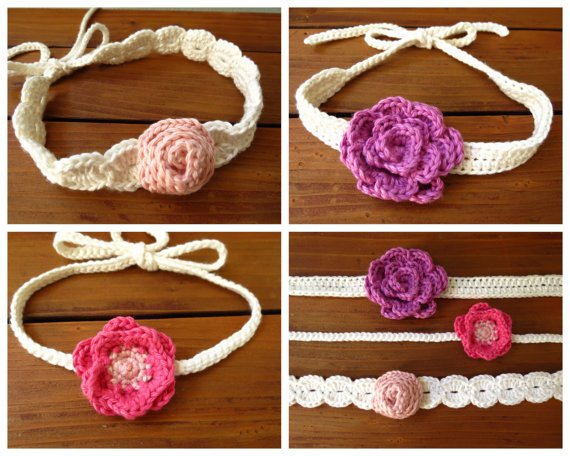 Crochet Flower Headband Pattern